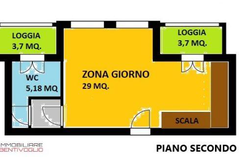 PIANO SECONDO MONOLOCALE_a COLORI